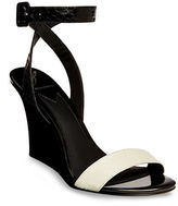 Brian Atwood B-Kimi Snakeskin Leather Wedge Sandals