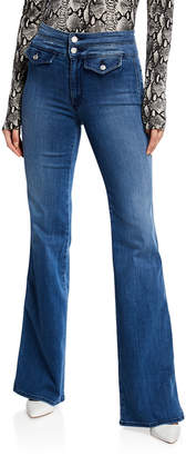 Black Orchid Amelia Wide-Leg Jeans with Double Waistband