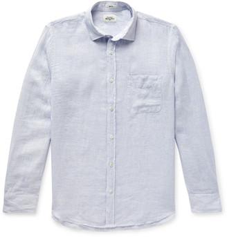 Hartford Slim-Fit Pinstriped Slub Linen Shirt