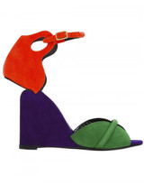 Pierre Hardy color block wedge sandals