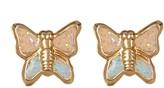 Candela 10K Yellow Gold Butterfly Stud Earrings