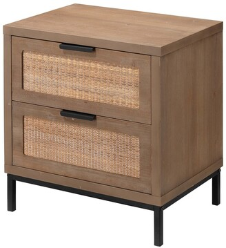 Jamie Young Reed 2 Drawer Side Table