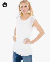 Chico's Pleated-Front Top