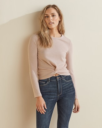 Express Upwest Waffle Twist-Front Tee