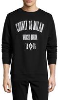 Marcelo Burlon County of Milan Crewneck Cotton Sweatshirt