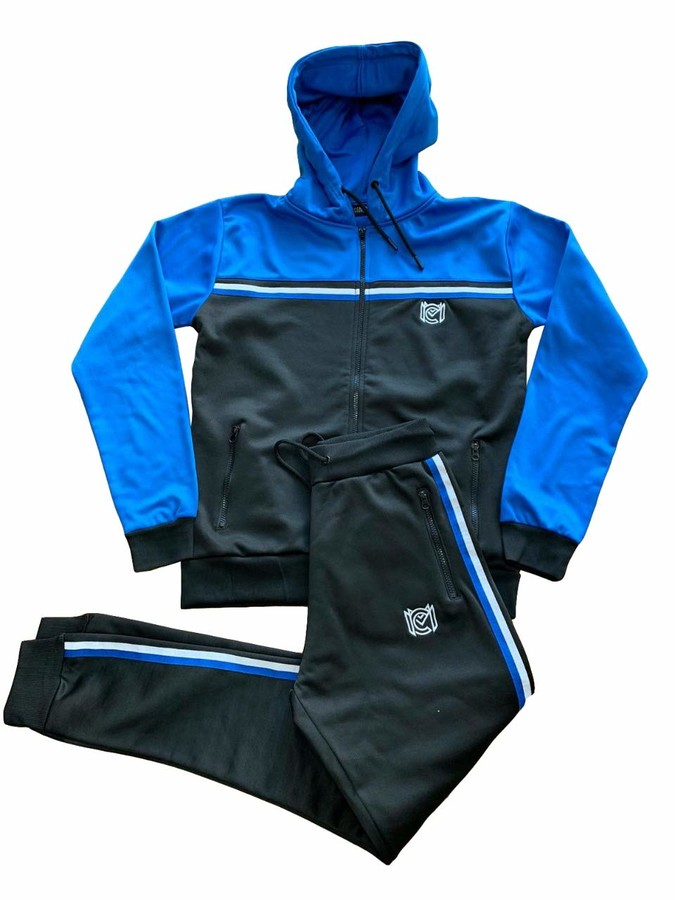 Mens Skinny Fit Tracksuit Hooded Jogging Joggers Hoodie Full Set Top Bottoms UK