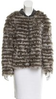 Trilogy Fox Fur Striped Jacket
