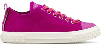 Giuseppe Zanotti fur lace-up sneakers