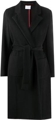 Merci Peak-Lapels Tie-Waist Coat