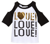 Ten Sixty Sherman Love! Love! Love! Raglan Tee (Big Girls)