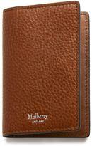 Mulberry Card Case Oak Natural Grain Leather