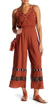 Endless Rose Embroidered Palazzo Pant Jumpsuit