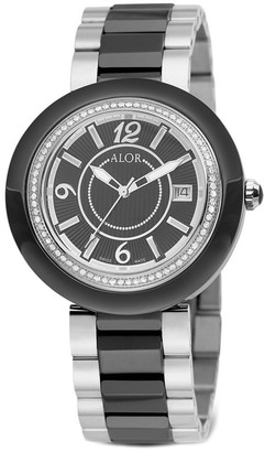 Alor Women's 43Mm Two-Tone Diamond Cavo Watch