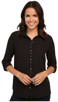 KUT from the Kloth Lexi Collar Blouse w/ Snaps & Eyelet