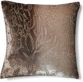 Kevin OBrien Ferns 16x16 Velvet Pillow, Dove Gray