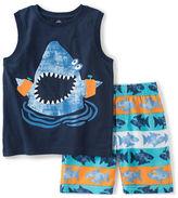 Kids Headquarters Boys 2-7 Shark Tank and Shorts Set
