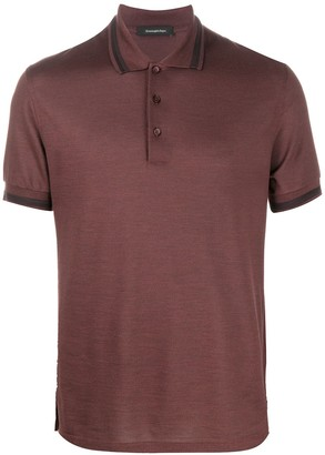 Ermenegildo Zegna Stripe Collar Polo Shirt