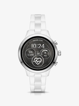 Michael Kors Runway Heart Rate Silver-Tone and Ceramic Smartwatch