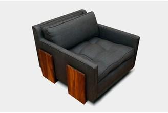 Artless Up Solutions Armchair Fabric: Charcoal Velvet