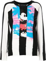 Marc Jacobs striped panel sweatshirt - women - Cotton - XS