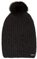 Woolrich Fur-pompom cashmere beanie hat