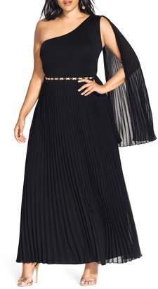 City Chic Paramount One-Shoulder Maxi Dress
