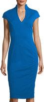 Alexia Admor V-Neck Cap-Sleeve Sheath Dress
