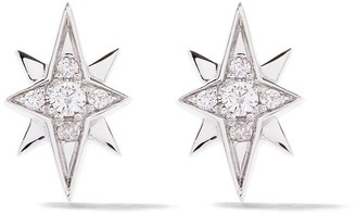 As 29 18kt white gold Essentials North Star diamond stud earrings