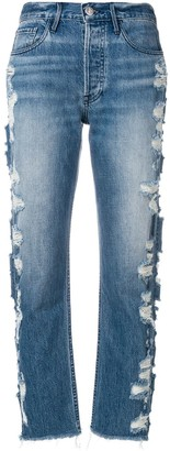 3x1 High Rise Cropped Jeans