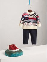 Burberry Fair Isle Wool Cashmere Patchwork Sweater