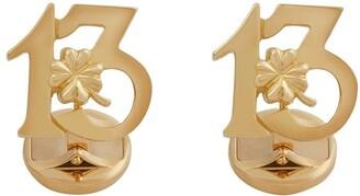 Dolce & Gabbana 18kt Yellow Gold Ruby Good Luck Cufflinks
