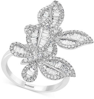Effy Diamond Butterfly Statement Ring (1-3/8 ct. t.w.) in 14k White Gold