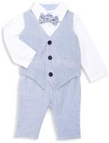 Andy & Evan Baby Boy's 3-Piece Striped Vest Suit Set