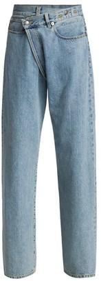 R 13 Wide-Leg Cross Over Jeans