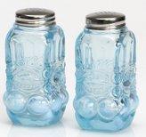 Salt & Pepper Shaker Set - Eyewinker - Blue Opalescent - Mosser USA by Rosso Glass
