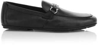 Salvatore Ferragamo Sander Gancini Bit Leather Loafers