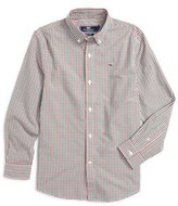 Vineyard Vines Gardiners Gingham Woven Shirt (Toddler Boys, Little Boys & Big Boys)