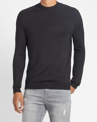 Express Rayon Stretch Mini Mock Neck Sweater