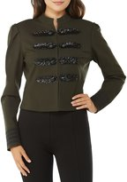 Peter Nygard Beaded Military Jacket