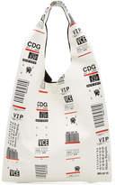 Maison Margiela Luggage Label Leather Tote