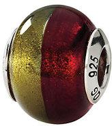Murano Prerogatives Sterling Gold/Red Italian Glass Bead