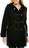 Liz Claiborne Wool-Blend Toggle Coat - Tall