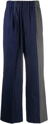 Jejia Flared Pinstriped Trousers