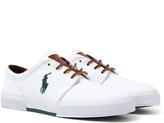 Polo Ralph Lauren Faxon White Canvas Low Rise Trainers