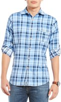 Daniel Cremieux Slim-Fit Plaid Long-Sleeve Woven Shirt