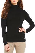 Calvin Klein Ribbed Turtleneck Long Sleeve Fine Gauge Knit Sweater