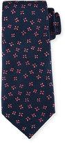 Charvet Neat Butterfly Silk Tie, Blue