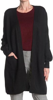 Max Studio Long Pocket Cardigan Sweater