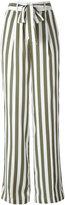 Equipment stripe high waist trousers - women - Silk - S