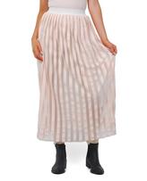 Cream Maxi Skirt with Built-In Legging